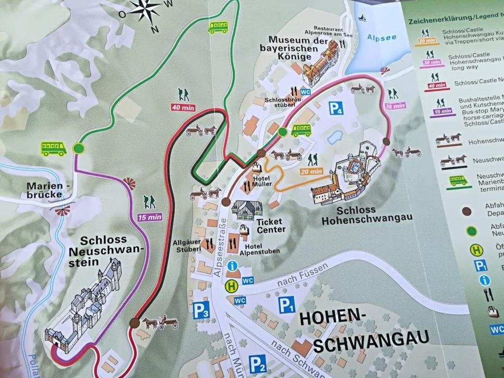 フュッセン地図